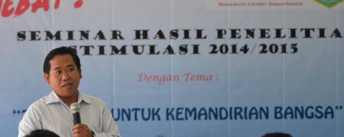 Seminar Hasil Penelitian Stimulus FTKI UNAS